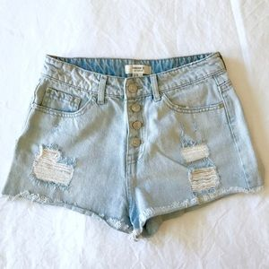 Forever 21 High Rise Button Fly Cutoff Shorts